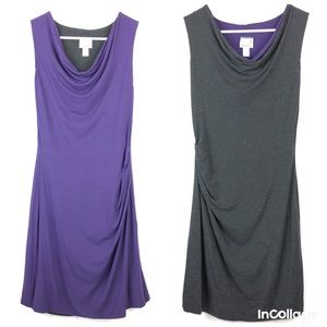 Athleta Inverse Drape Reversible Dress Size XS